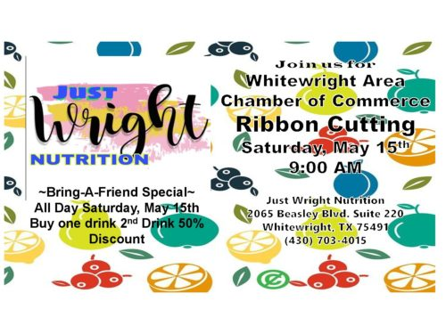 Ribbon Cutting – Just Wright Nutrition