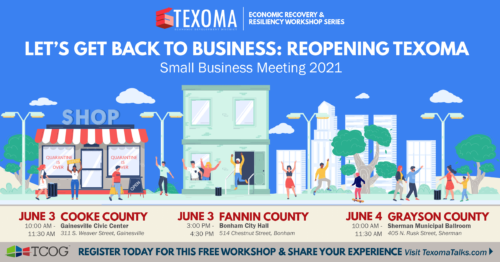 TCOG – Small Business Meeting 2021 – Fannin County June 3 & Grayson County June 4