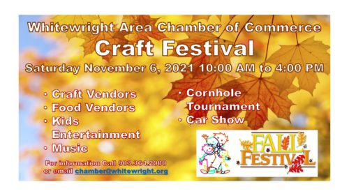 Annual Fall Craft Festival – Saturday, November 6th, 2021 10:00 AM to 4:00 PM